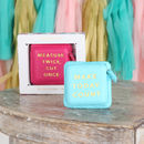 Textured Slogan Tape Measure In Gift Box