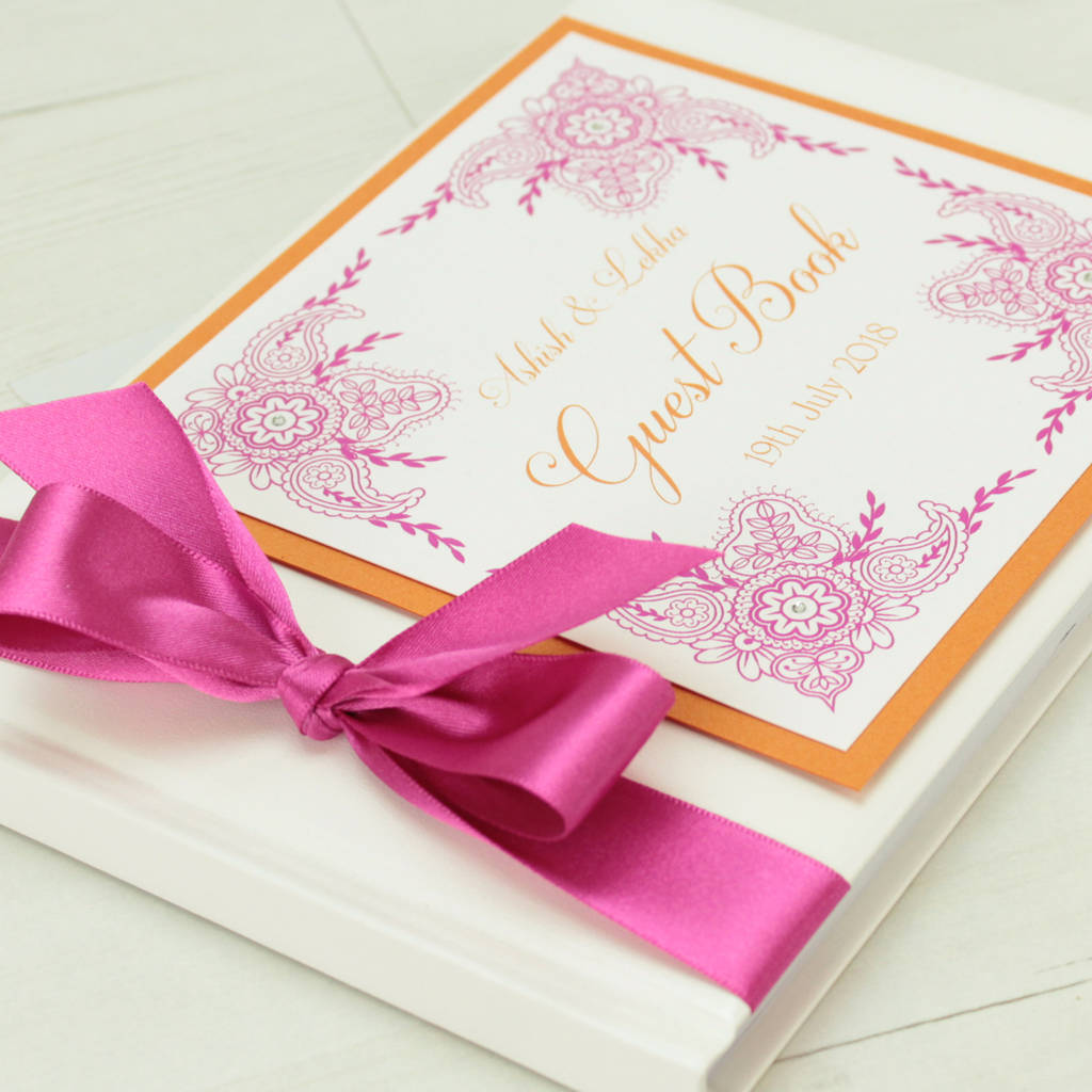 personalised indian garden wedding guest book by dreams to reality ...