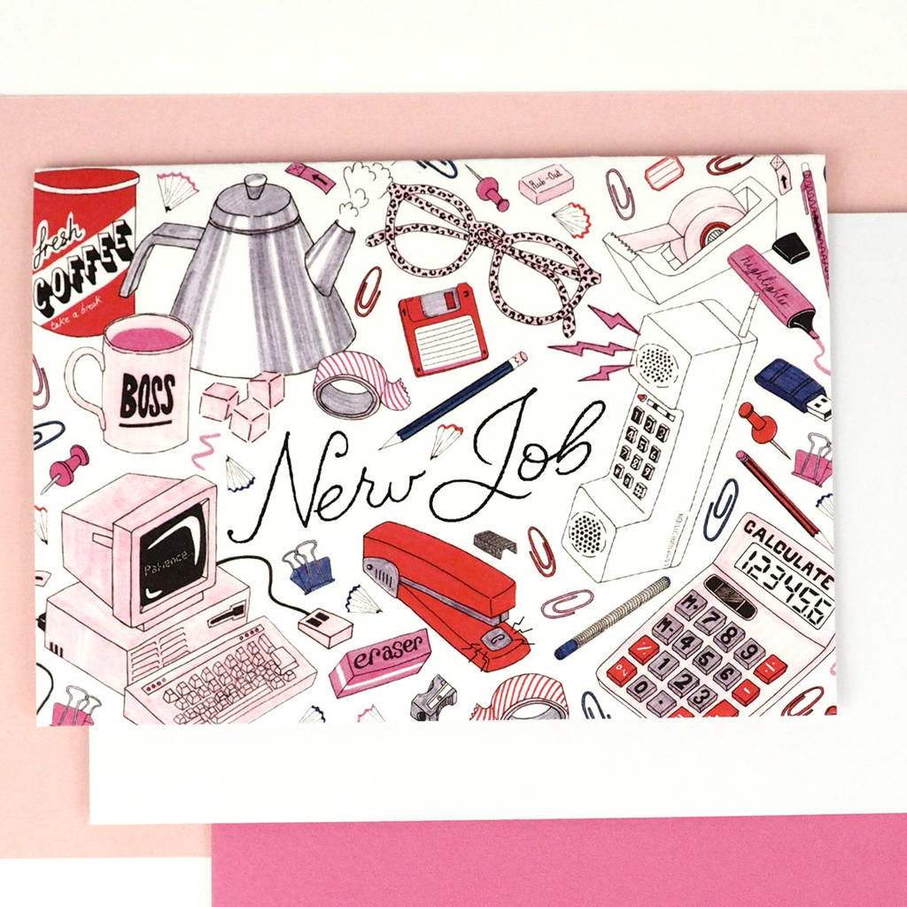 new job congratulations card by jacqueline colley