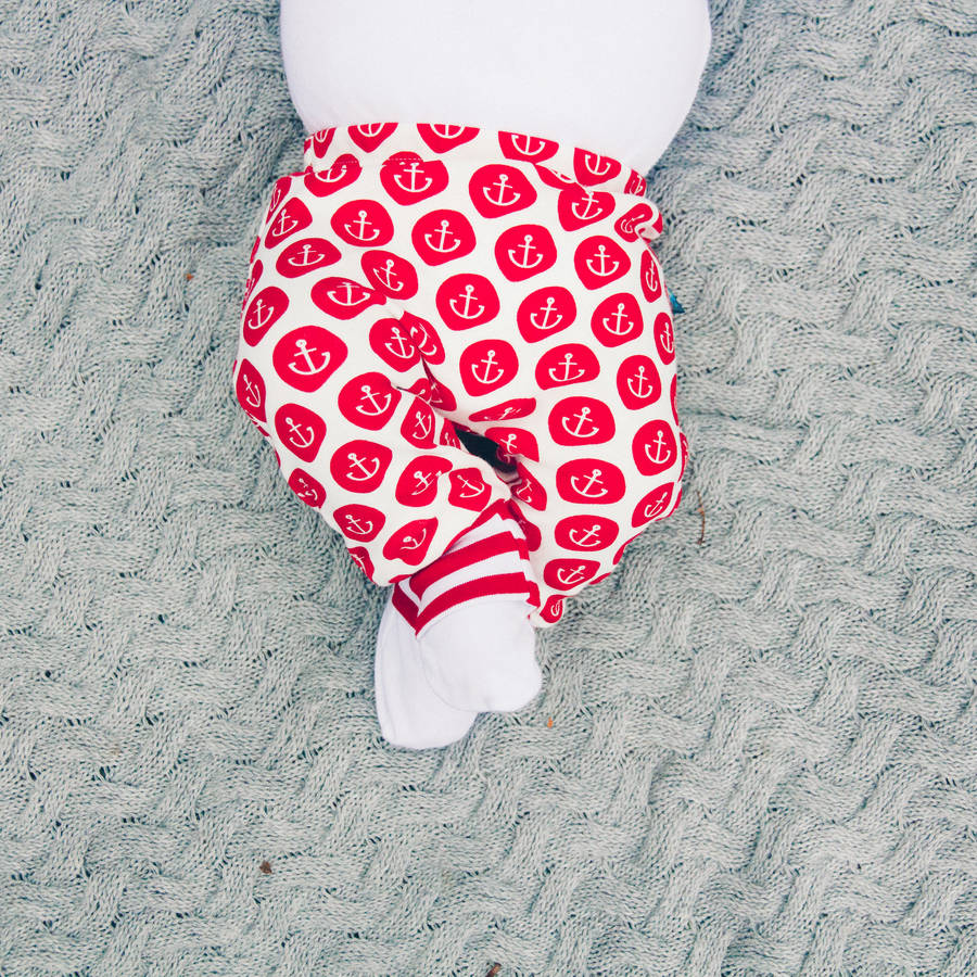 Anchor Print Organic Baby Leggings