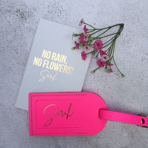 No Rain, No Flowers Notebook And Luggage Tag