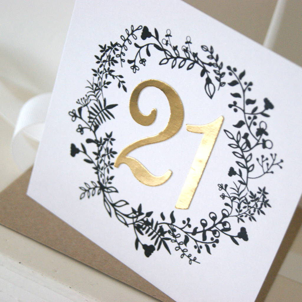 Luxe Gold 21st Birthday Card By The Hummingbird Card