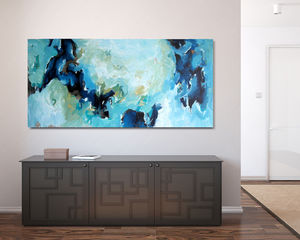Irrelevance, 150x76 Cm, Large Hand Painted Original Art - paintings