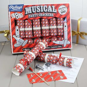 Marvellous Musical Set Of Eight Party Crackers - christmas entertaining
