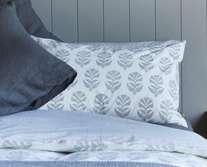 Itars Reversible Print Pillowcase Smokey Grey
