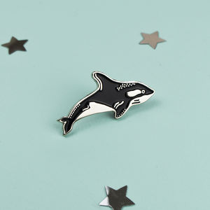 Killer Whale Enamel Pin - children's jewellery