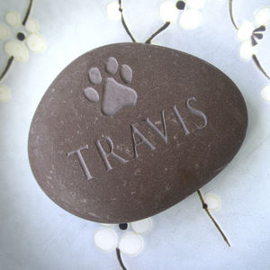 Personalised Pet Pebble With A Pawprint