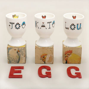 Personalised Eggcup - baby care