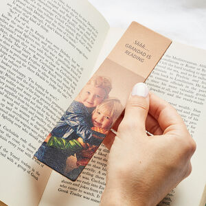 Personalised Leather Bookmark With Photo