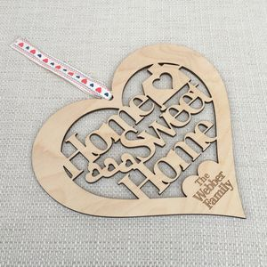 Home Sweet Home Cut Out Wooden Heart - decorative accessories