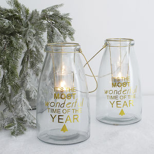 Wonderful Time Glass Hanging Lantern