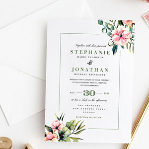 Botanical Wedding Invitation Collection