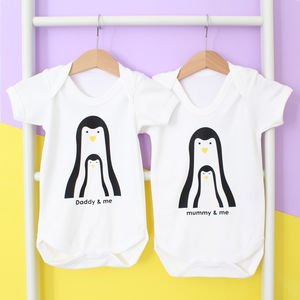 Personalised Daddy /Mummy And Me. Penguin Top - gifts for mums-to-be