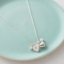 Personalised Silver Hearts And Labradorite Necklace