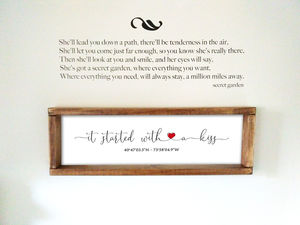 Personalised Framed Family Sign / Coordinates Love Sign