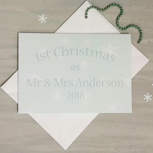 1st Christmas As Mr And Mrs Card