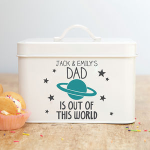 Personalised Dad's Treat Tin - tins, jars & bottles