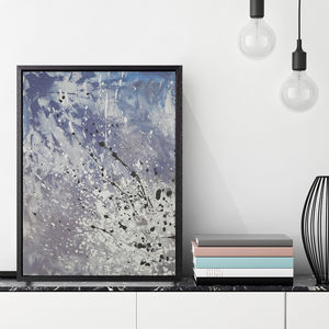 'Airo Cool' Framed Giclée Abstract Canvas Print Art - modern & abstract