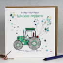 Nephew Birthday Card Tractor Theme