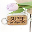 Personalised Super Mama Keyring