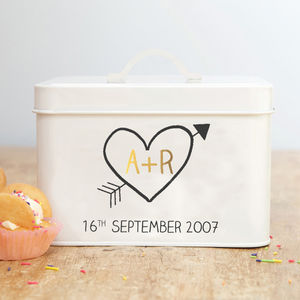Personalised 10th Wedding Anniversary Tin - 10th anniversary: tin