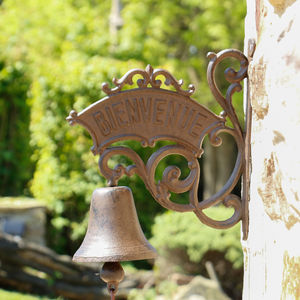 Bienvenue Antique Door Bell - art & decorations