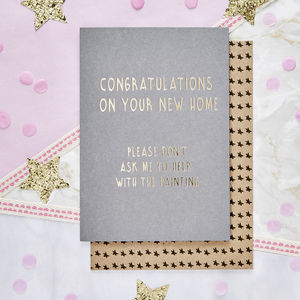 'Congrats On You're New Home' Card - shop by category