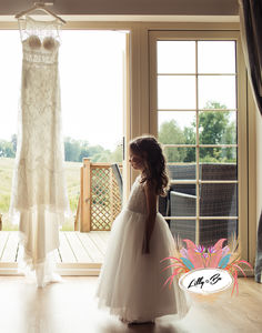 Melody ~ Lace And Tulle Flower Girl In Ivory - bridesmaid dresses