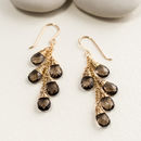 Smoky Quartz Waterfall Earrings