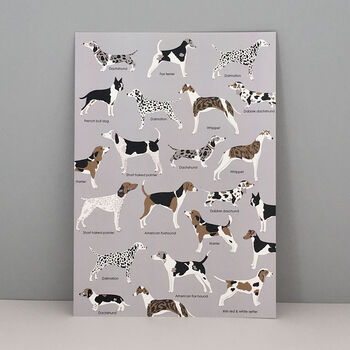 Woof Dog Print, Dog Lovers Gift