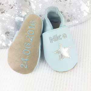 Personalised Keepsake Star Baby Shoes - christeningwear