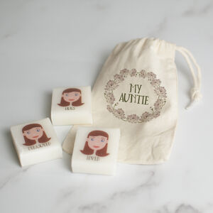 Personalised Set Of Handmade Guest Soaps For Aunt Gift