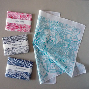 City Location Map Hankie - lust list for him