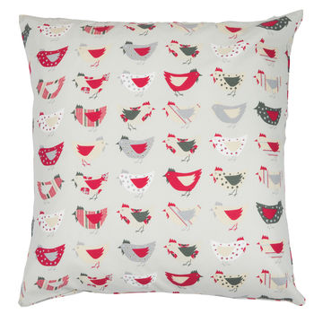 Organic Cushion Cover Roost Red