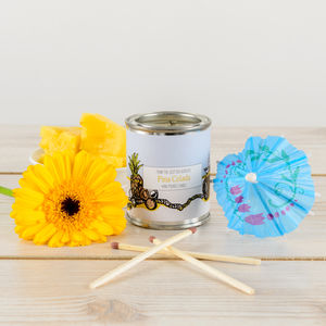 Pina Colada Pineapple And Coconut Candle Tin