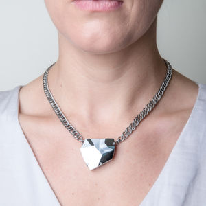 Asymmetric Crystal Statement Necklace - statement necklaces