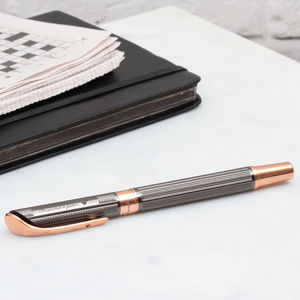 Personalised Rhodium And Rose Gold Plated Pen - writing