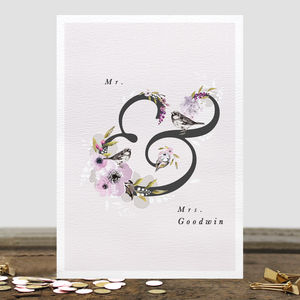 Personalised Mr And Mrs Greetings Card - wedding cards