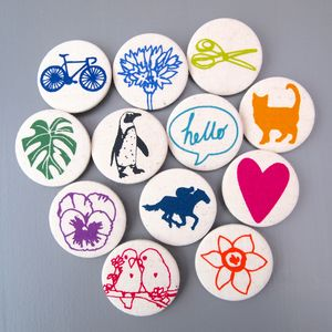Screen Printed Pin Badge - children's accessories
