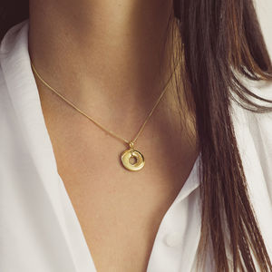 Personalised 9ct Gold Interlocking Locket Necklace - friendship jewellery