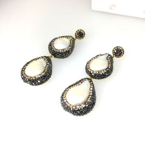 Baroque Pearl Drop Earrings - earrings