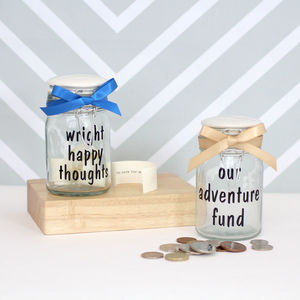 Personalised Happy Thoughts Jar