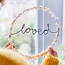 'Loved' Fairy Light Hoop