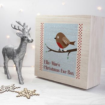 Personalised Robin Christmas Eve Box