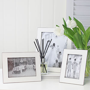 Nickel And White Fine Photo Frame - picture frames