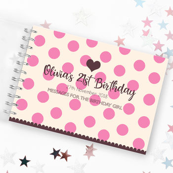 21st Birthday Party Guest Book