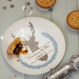 Personalised Winter Stag Side Plate - serving dishes