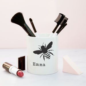'Bee' Personalised Make Up Brush Pot