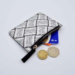 Tile Print Leather Purse - women's accessories