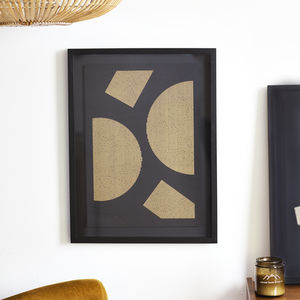 Abstract Geometric Gold Lines Print Four
